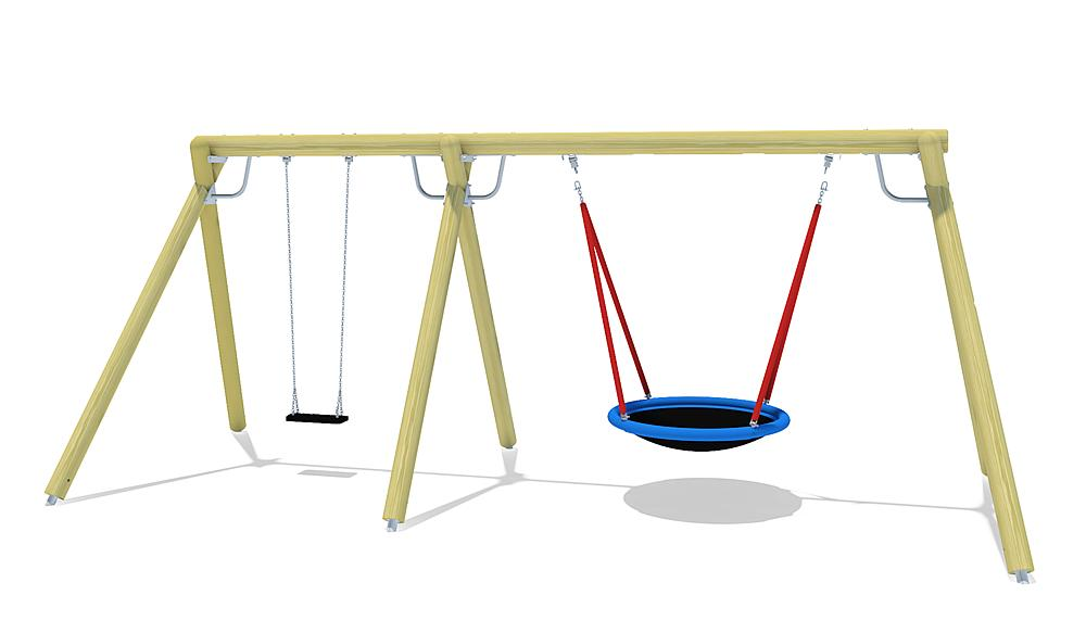 triple swing Eagle with nest seat & swing seat