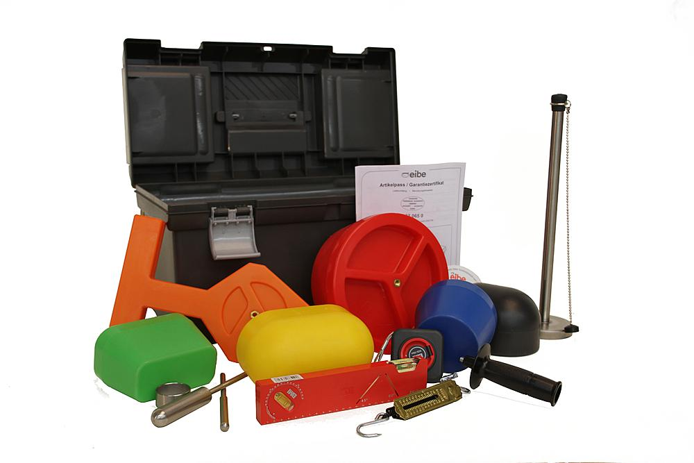 Test specimen kit for play equipment in compliance with EN 1176