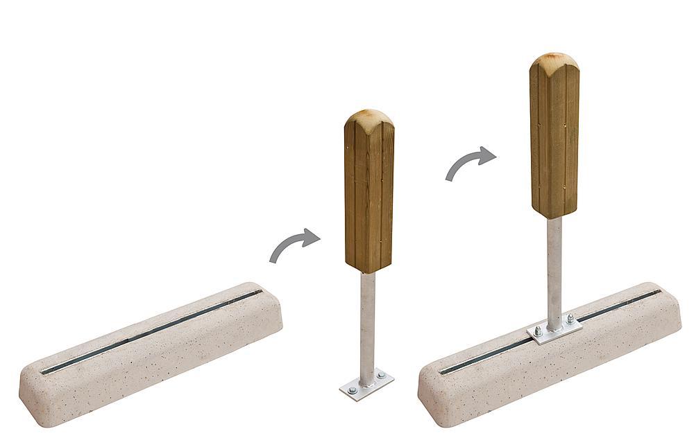 Prefabricated foundation small (PFs)