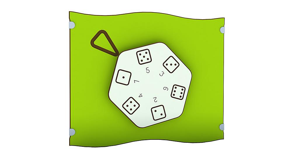 playing panel dice wheel