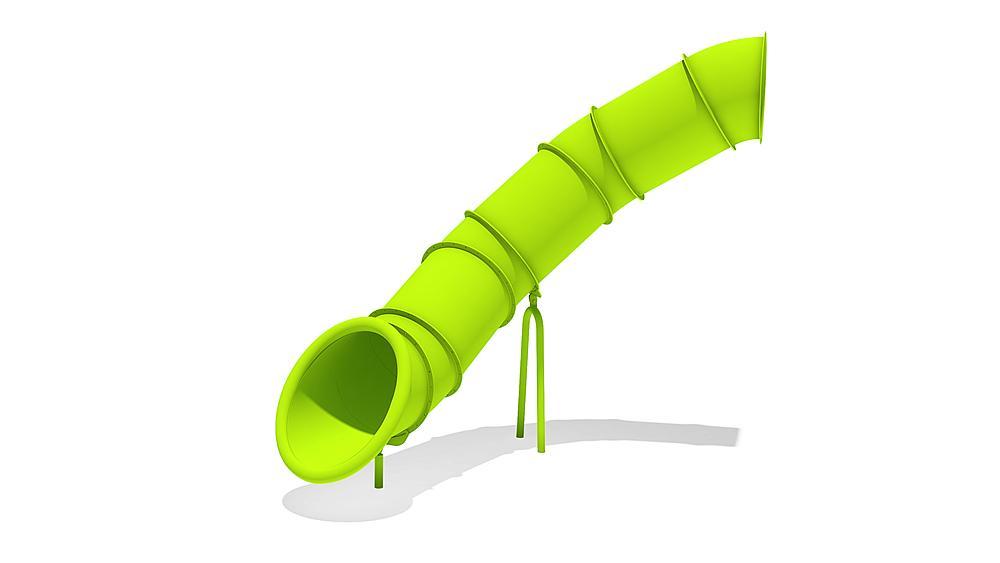 Tubular add-on slide 80 degree, spiralled to left, ph 245 cm