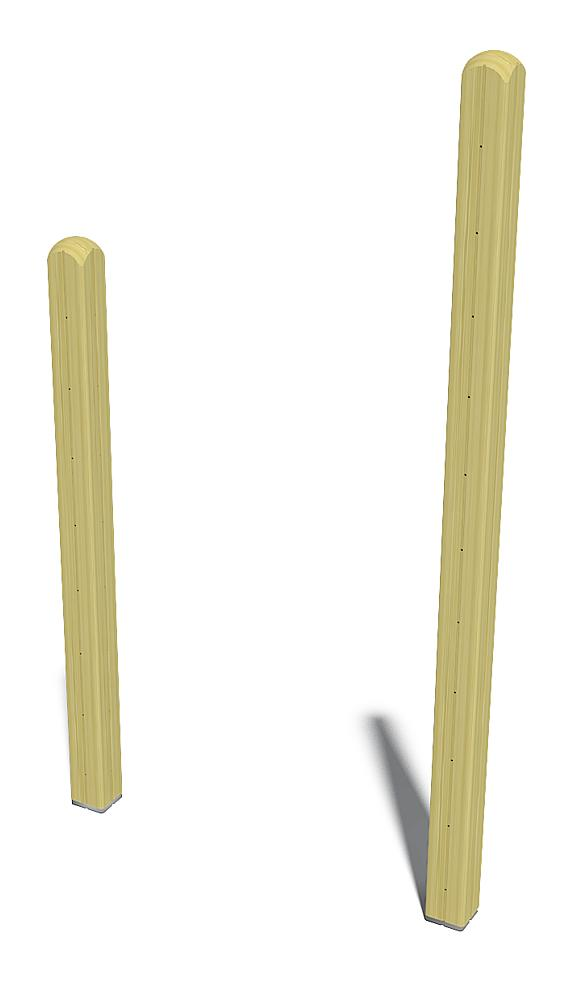 2 upright posts for elephant piano