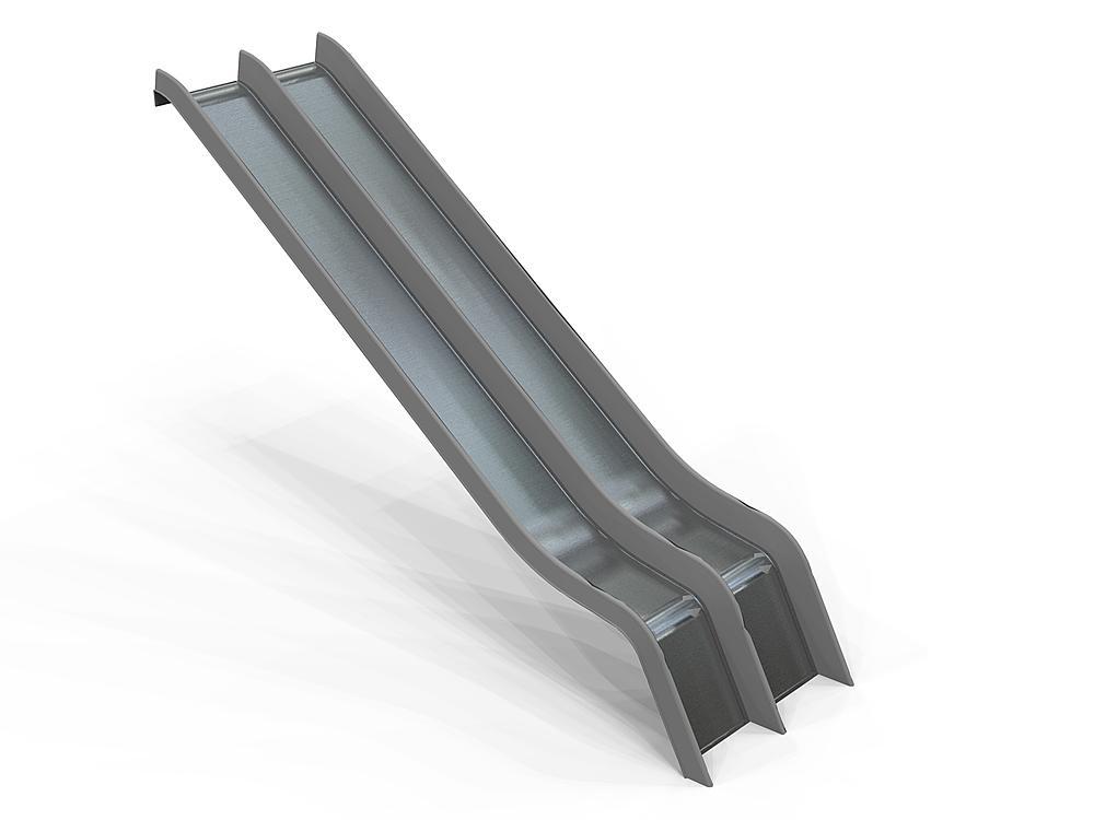 Add-on slide double GFRP & SSt coat, ph 195 cm