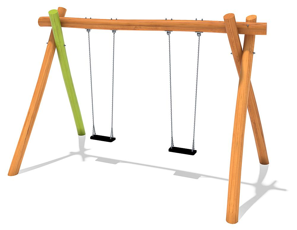 double swing Yanna with safety swing seats