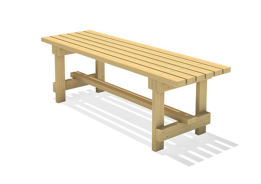 Square timber table Spessart 200