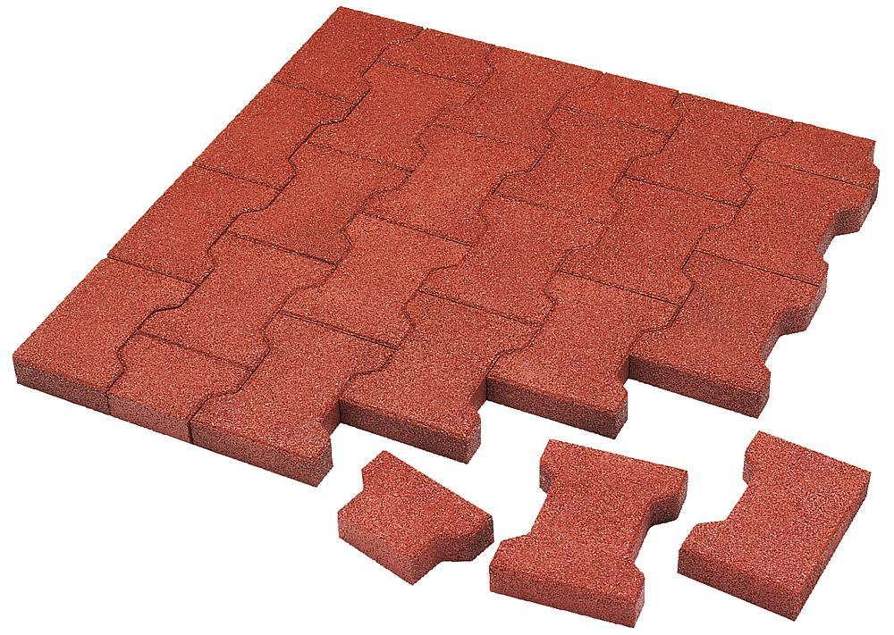 Impact attenuating interlocking tiles