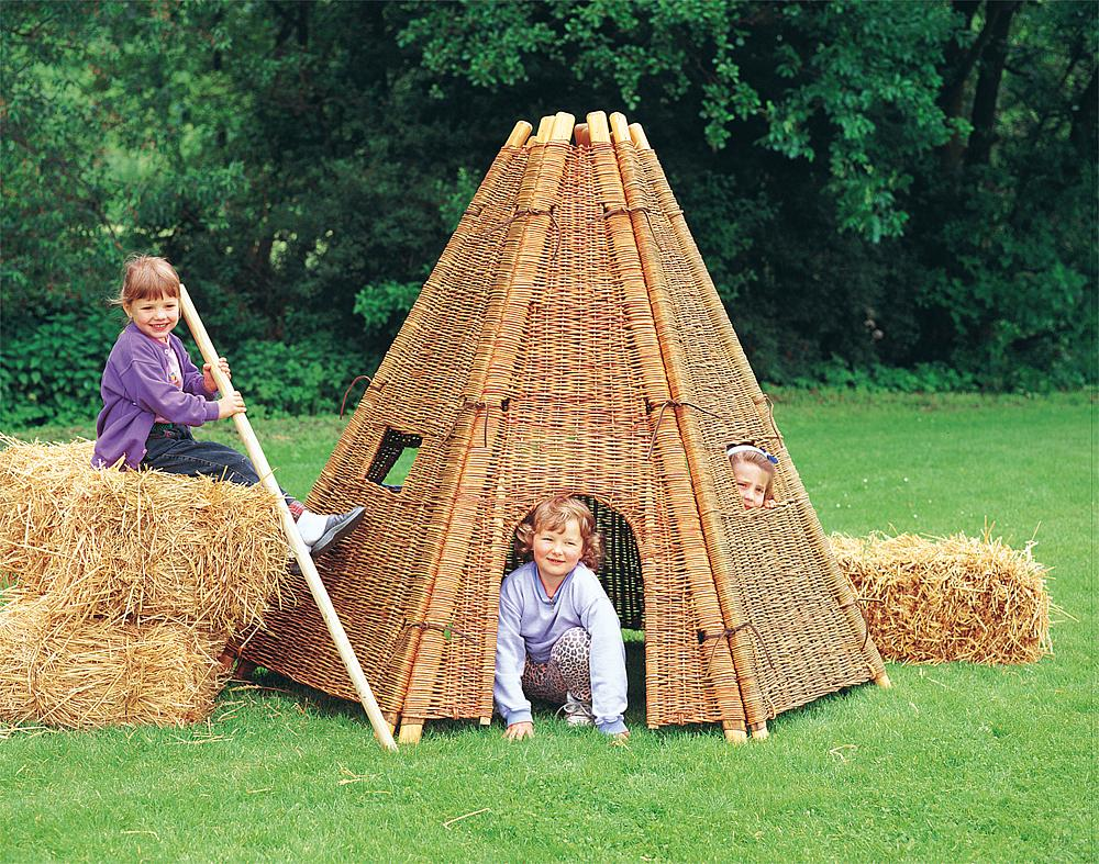 Wicker tent, 6 pcs.