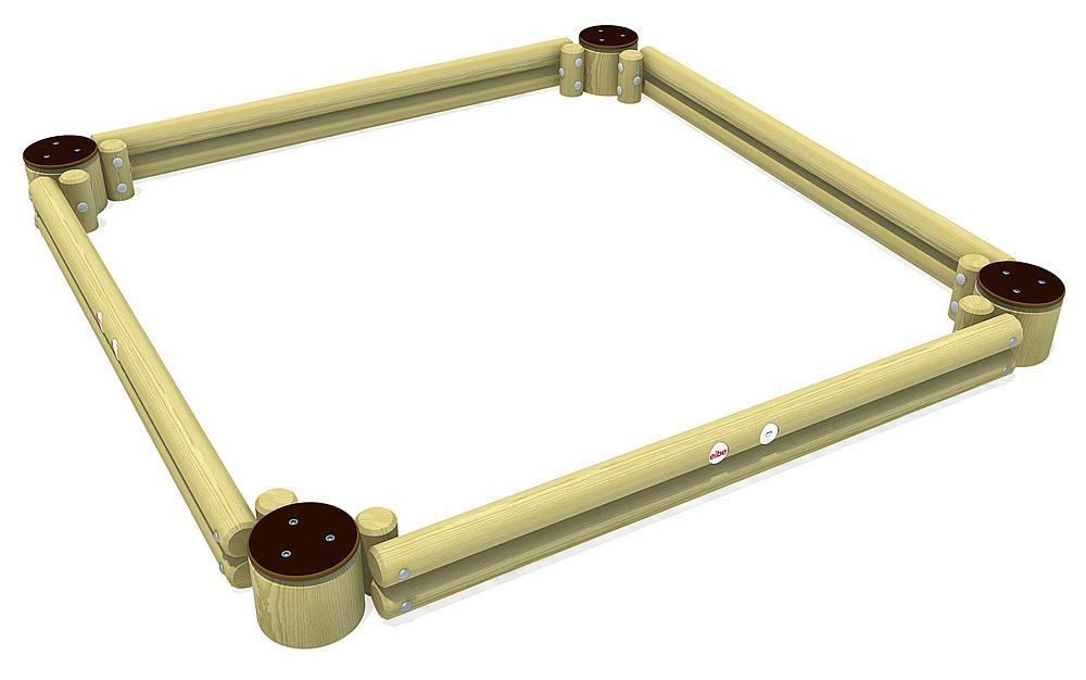 Palisade sandpit, square 260 cm