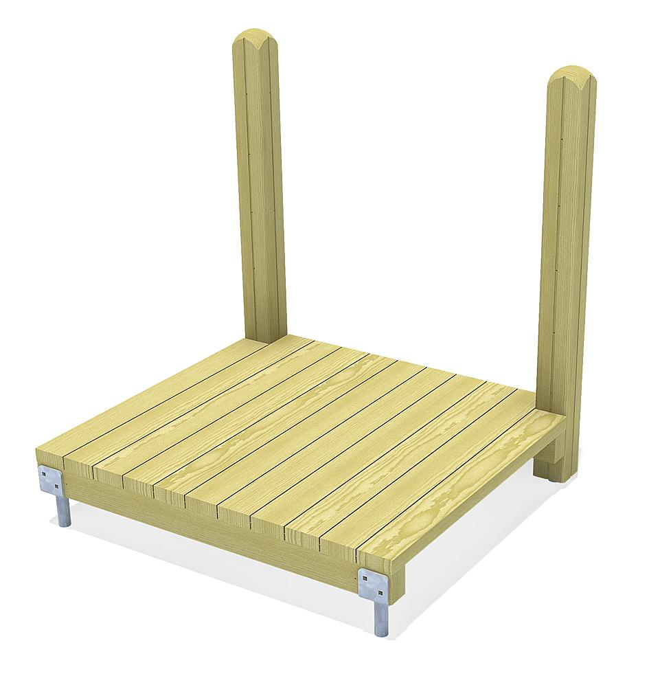 Hill platform for normal and tubular slides