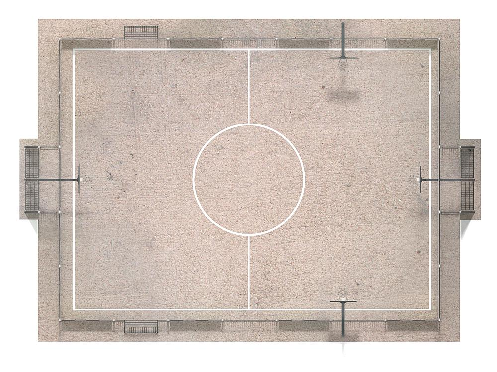 Multiple sports field Colour
