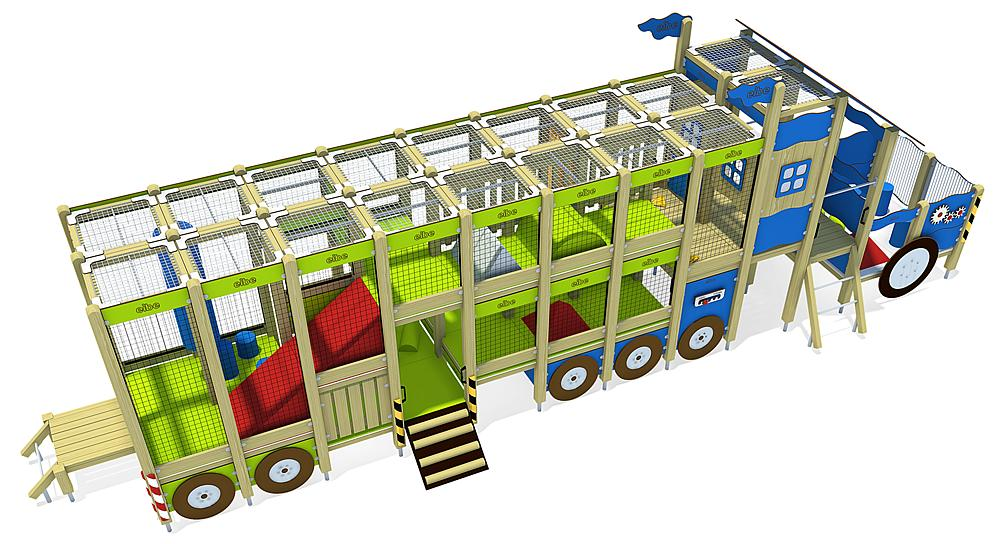 indoor play unit Semi-Trailer