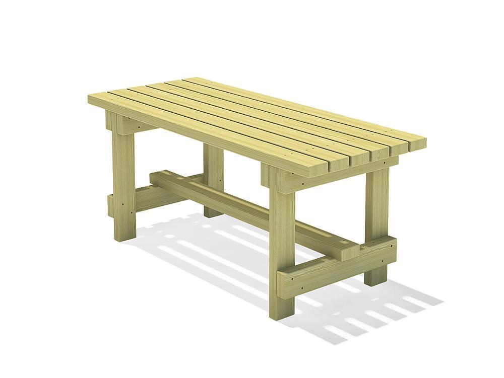Square timber table Spessart 150