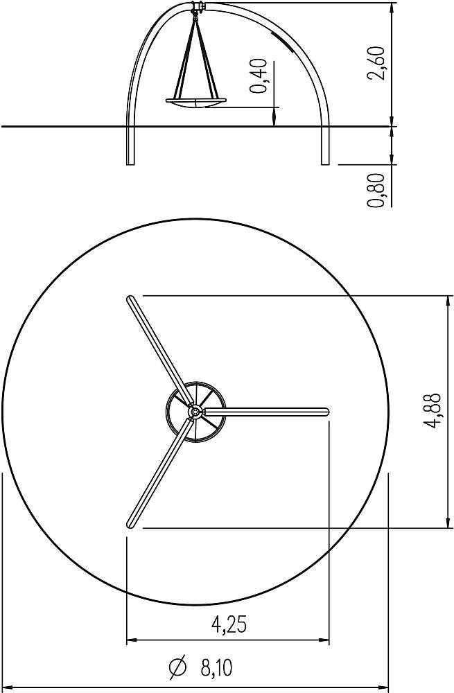 circular swing with nest seat