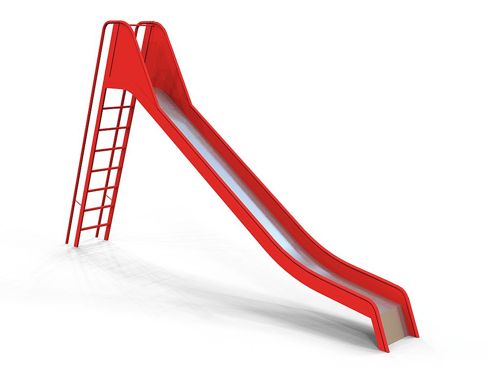 Slide with ladder  ph 200 cm, steel with stainless steel cover