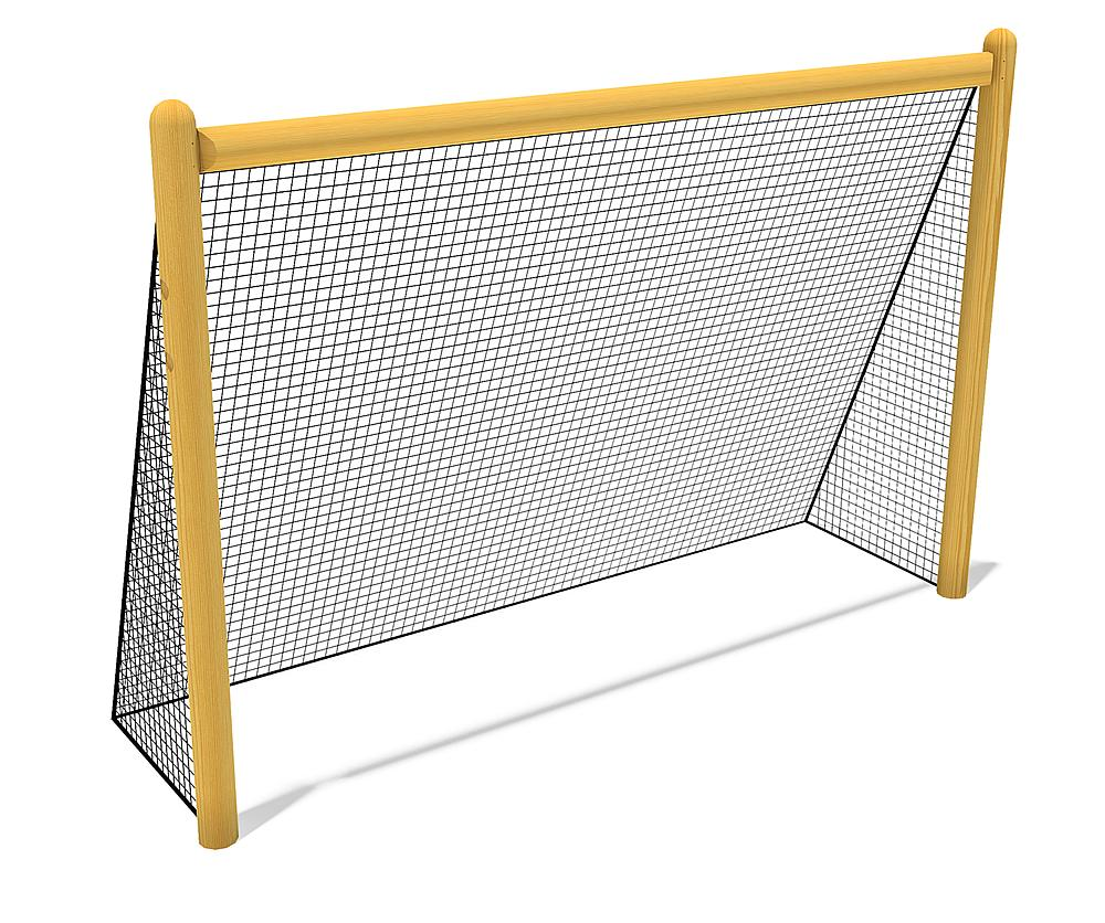 Wooden goal with net, 300x200 cm