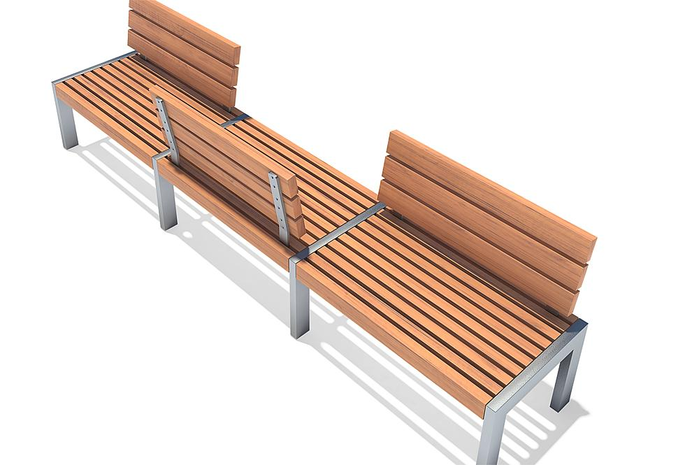 Bench with armrest Erica