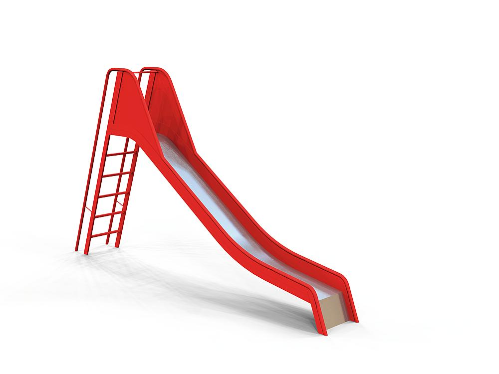 Slide with ladder  ph 150 cm, steel with stainless steel cover