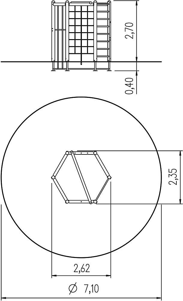 hexagonal system 270