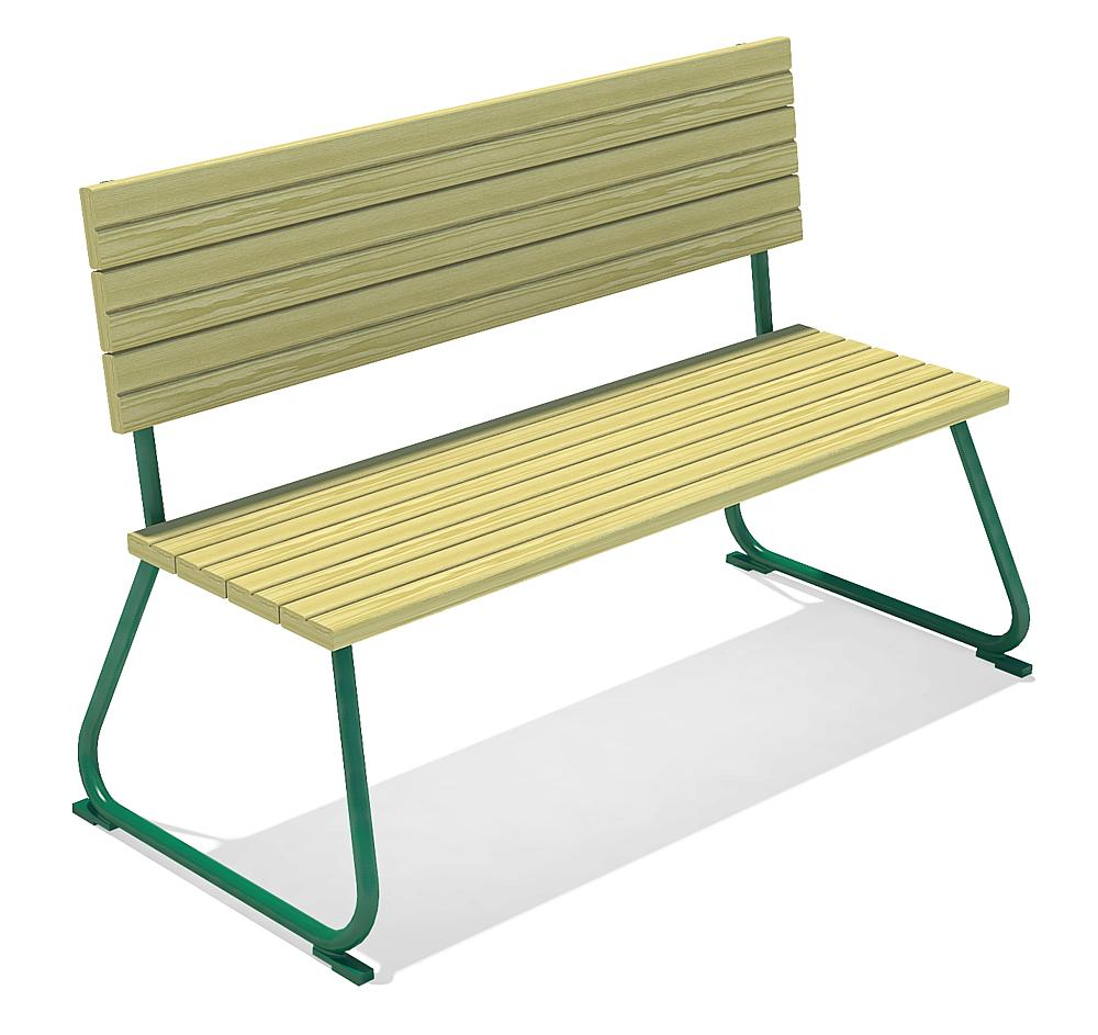 adult's bench with backrest Sederli maxi