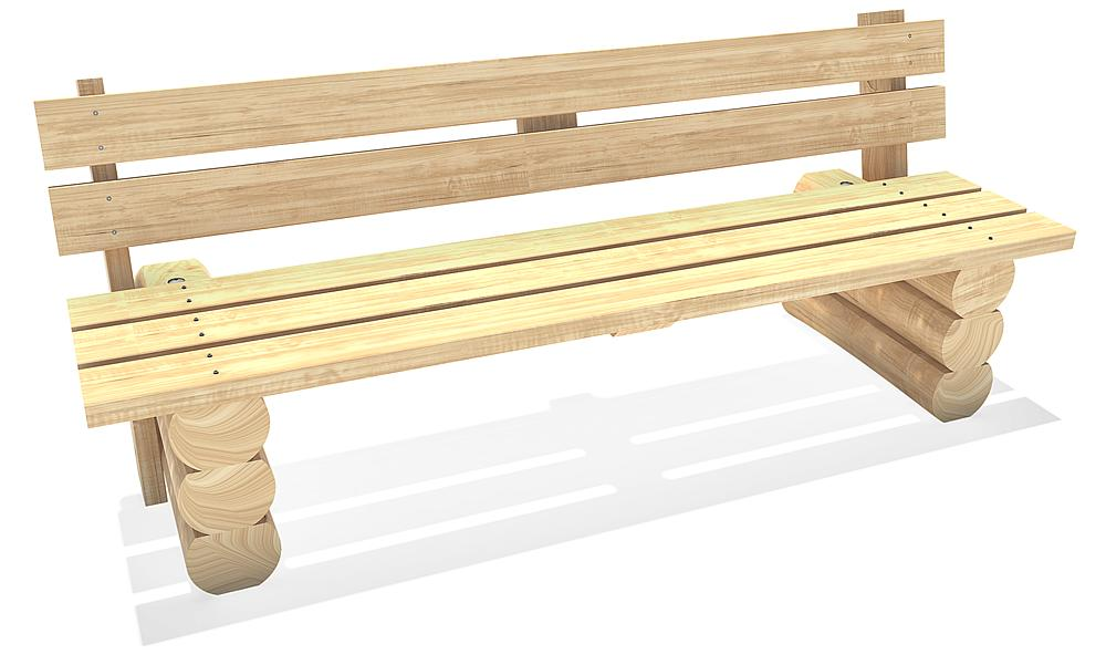 bench with back Schkeud