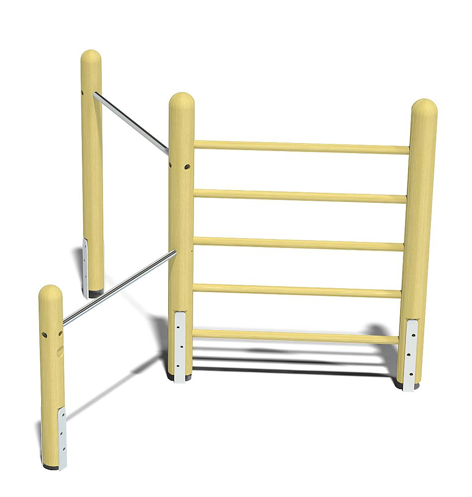 climbing frame with double horizontal bars