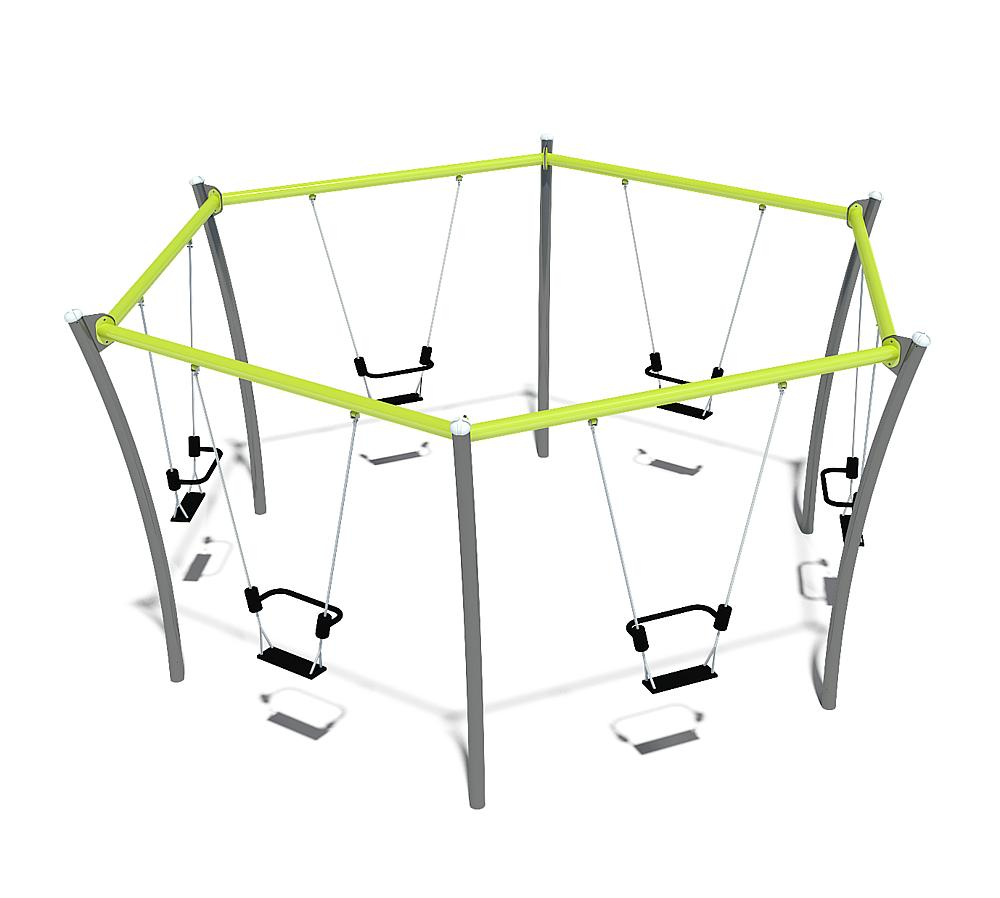 hexagonal swing