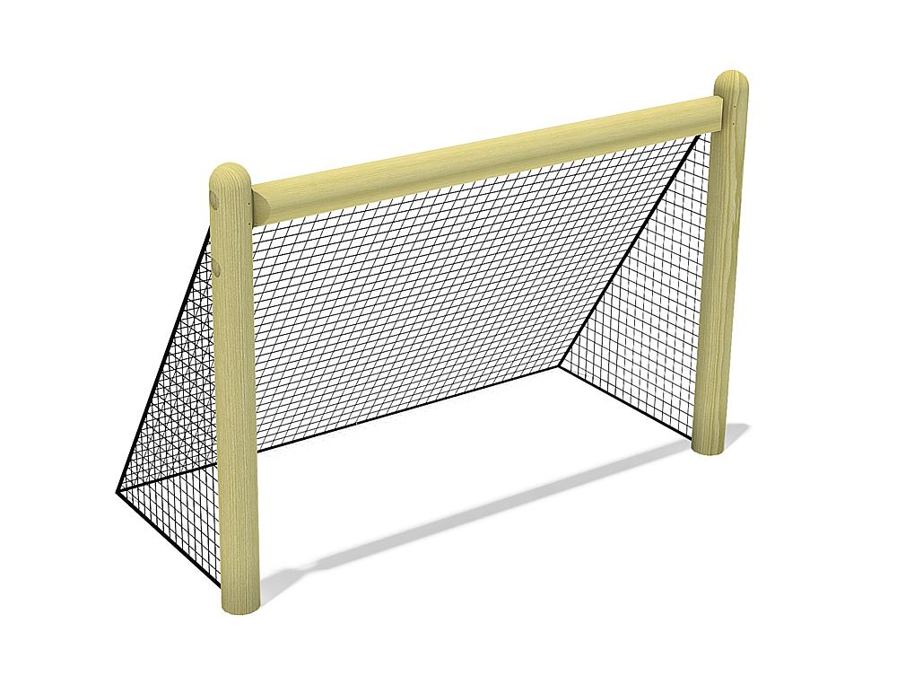 Wooden goal with net, 180x120 cm