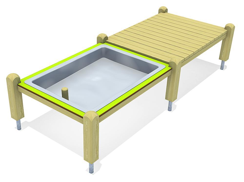 platform with mud tub