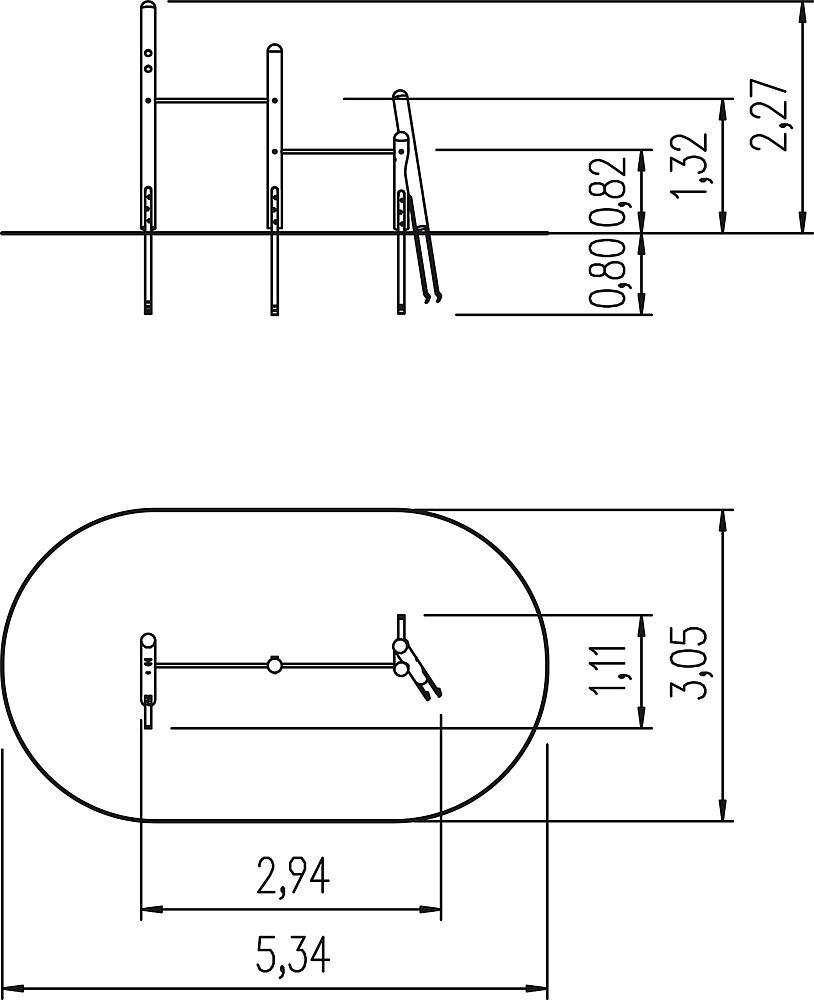 two-level horizontal bars Momo