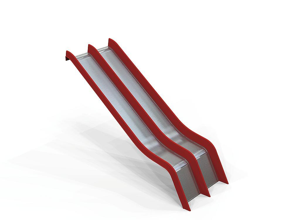 Add-on slide double GFRP & SSt coat, ph 145 cm