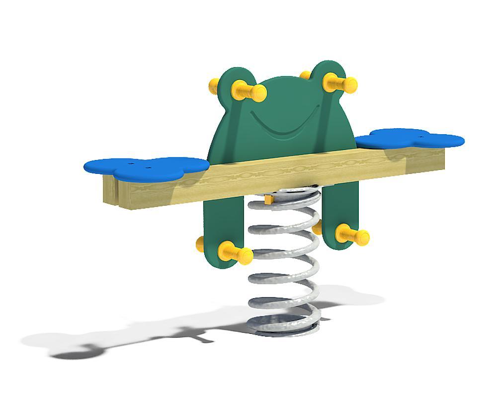 Double spring rocker Frog