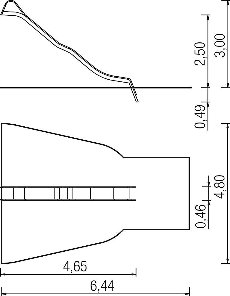 Wave slide, ph 250 cm