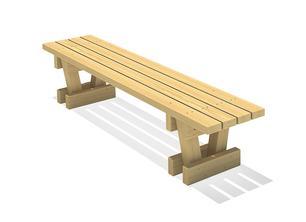 Square timber bench Spessart 200
