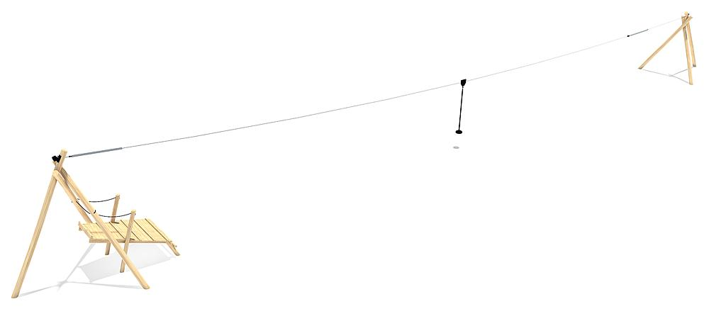 cable way Tardo 30 m with starting platform