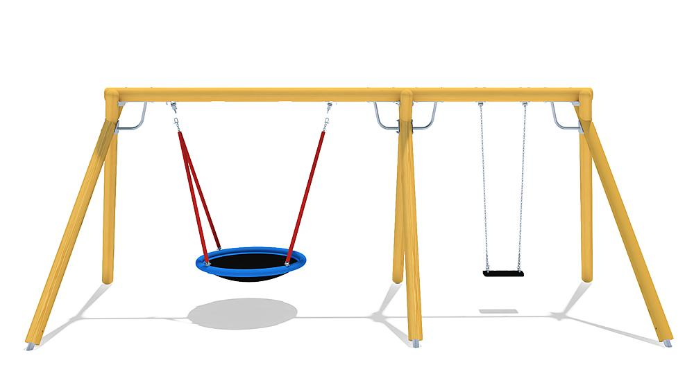 triple swing Eagle with nest seat & swing seat