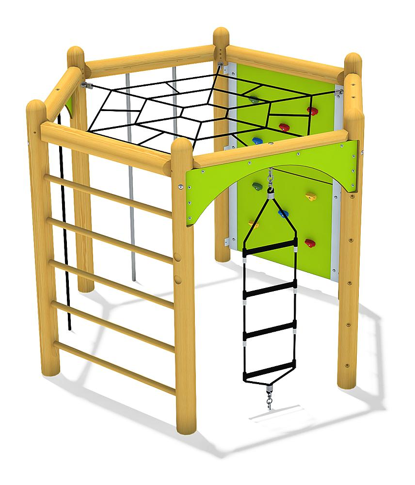 hexagonal system 210 with lying net