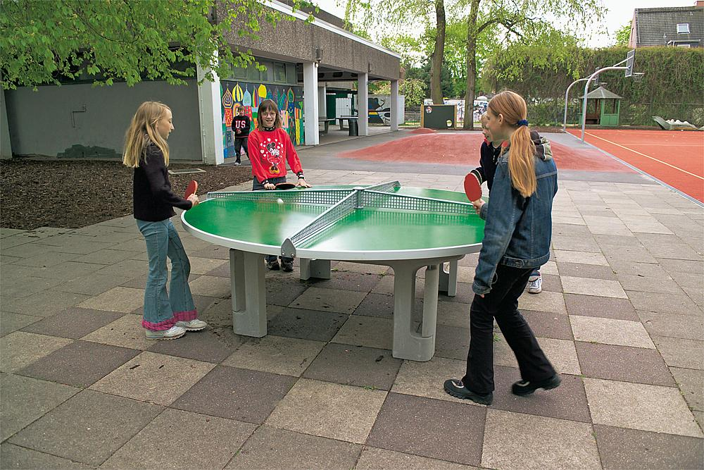 Table tennis table, round