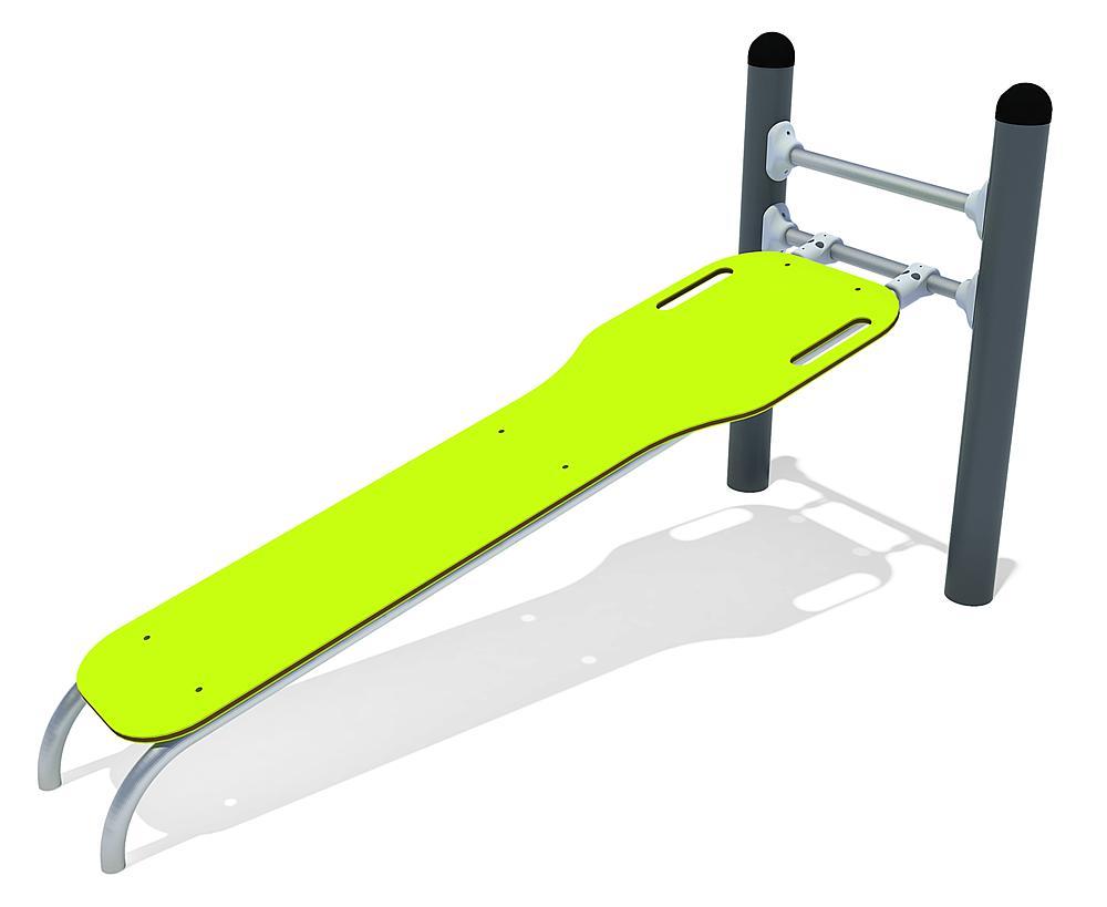 Calisthenics sit-up bench sloped