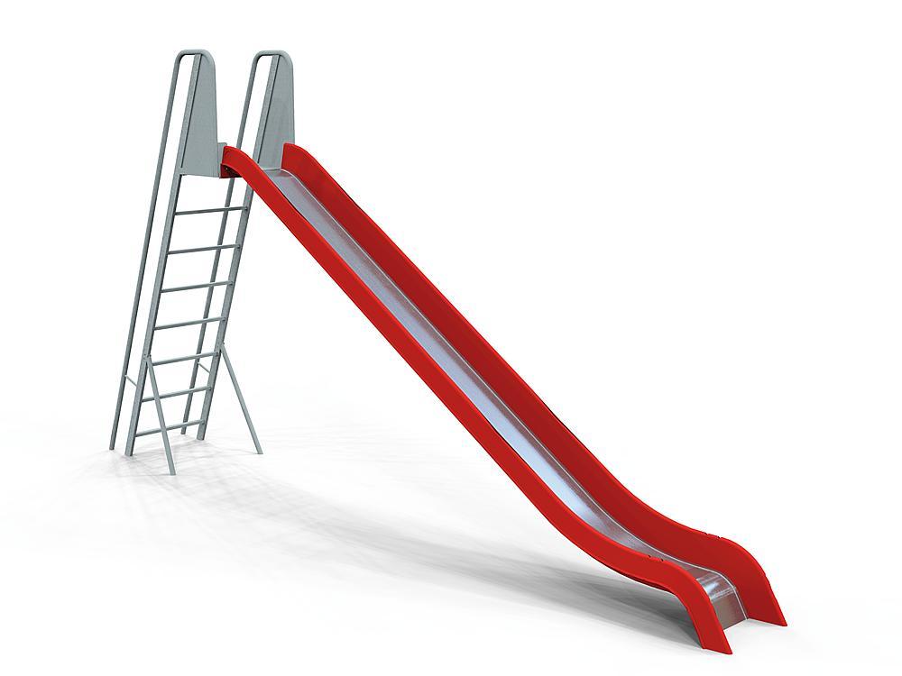 Slide with ladder GFRP & SSt coat, ph 190 cm