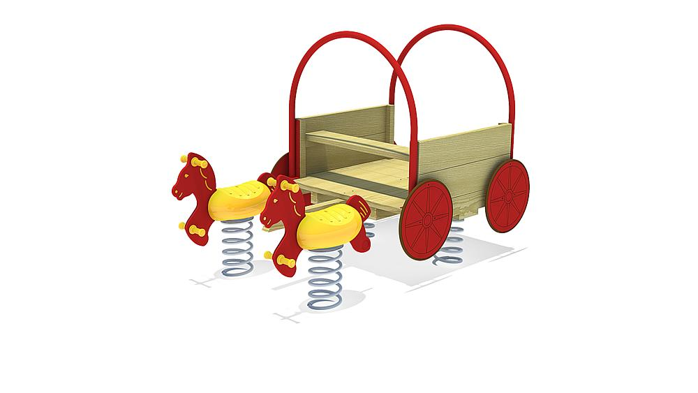 Multi-spring rocker Covered Wagon